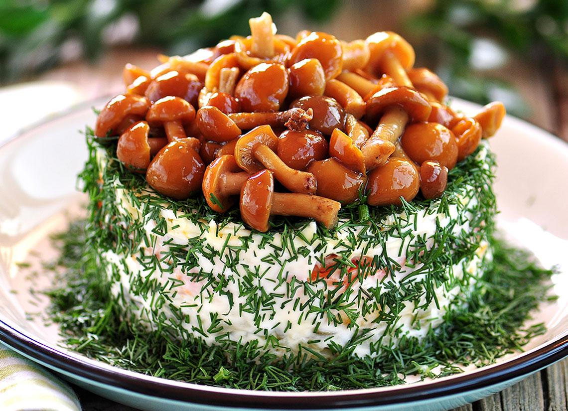 Как правильно сделать салат грибная поляна